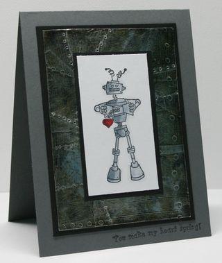 Aged-metal-robot