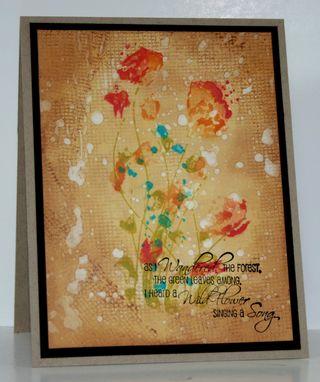 Rn-splattered flowers